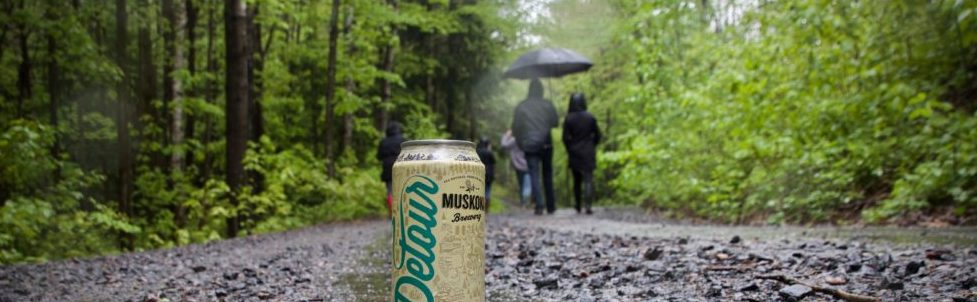 Detour on a rainy path.
