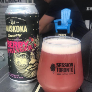 Session Toronto on Saturday where the beer of the day for me was @muskokabrewery Berry Springer Fieldberry Milkshake IPA. Definitely a contender for one of the best milkshakes I've had. Bursting with berries with a velvety lactose finish.