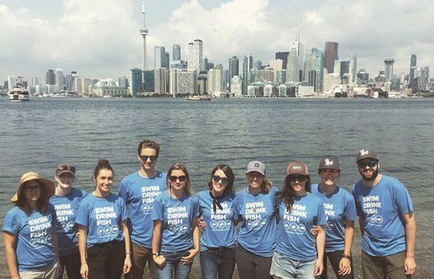 Team photo with Toronto Island Waterkeepers