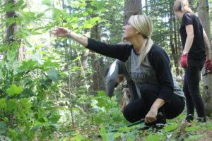 Kristin Moore tending the Upjohn Conservancy Trail