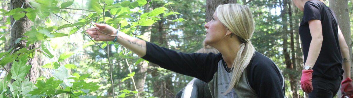 Kristin Moore on the Upjohn Trail