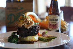 Braised Beef with a bottle of Mad Tom