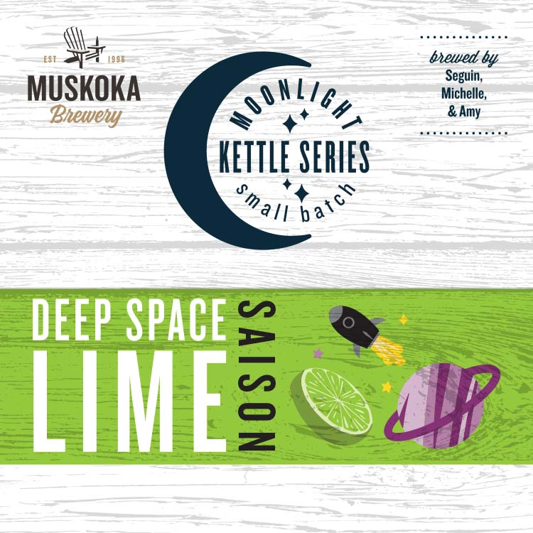 Muskoka Brewery Moonlight Kettle Series Small Batch, brewed by Seguin, Amy, and Michelle: Deep Space Lime Saison