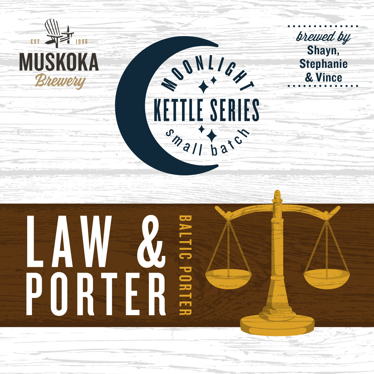 Muskoka Brewery's Law & Porter Baltic Porter from the Moonlight Kettle Series, created by Shayne, Steph and Vince.