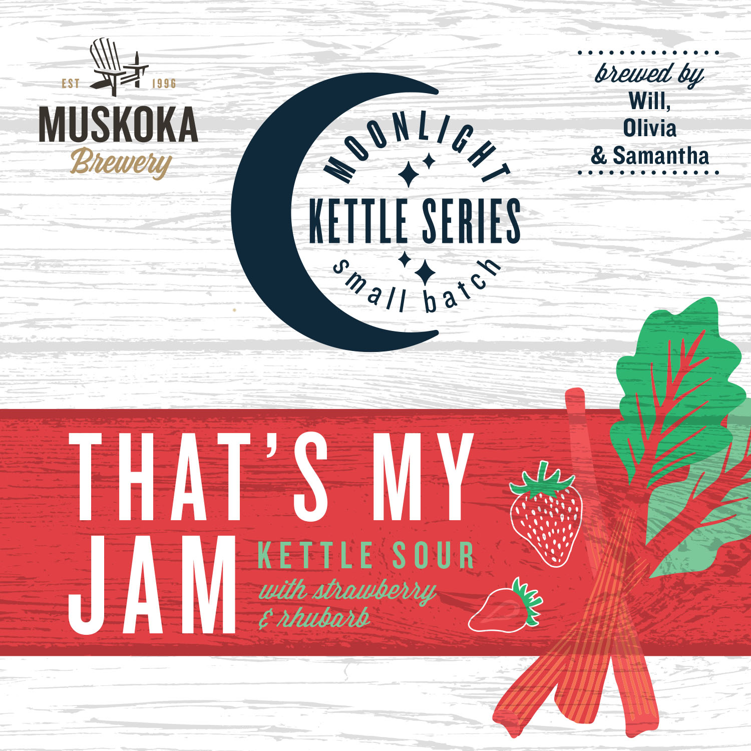 Moonlight Kettle That's My Jam with Strawberry and rhubarb