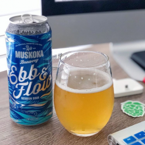 Ebb & Flow can and glass