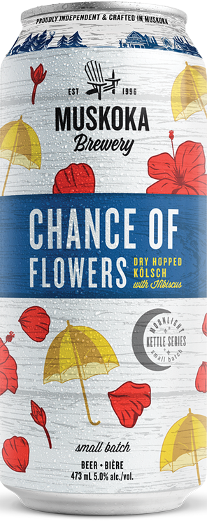 Chance of Flowers tall can.